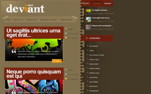 deviant-wordpress-theme