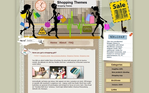 tick-tack-shopping-theme