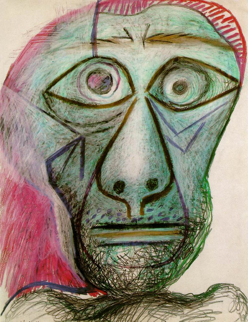 pablo-picasso-self-portrait-1972