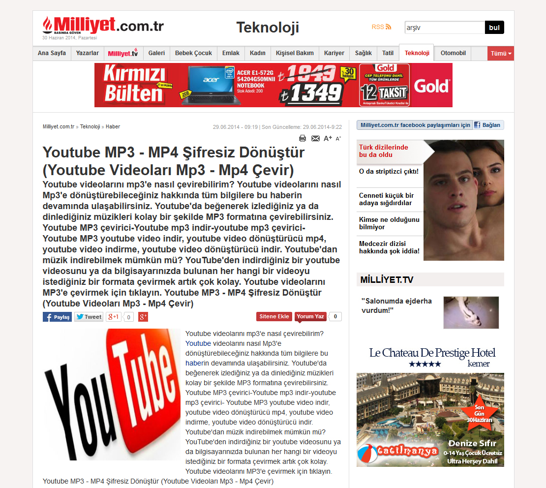 milliyet-youtube-spam