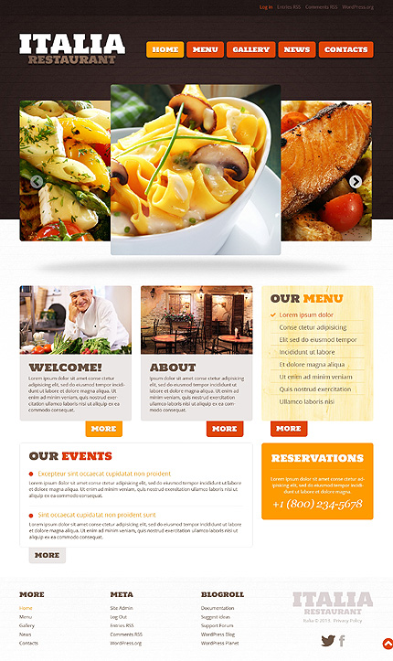 WordPress Restoran Temasi