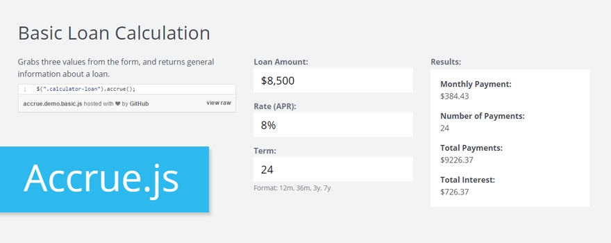jquery-loan-interest-plugin